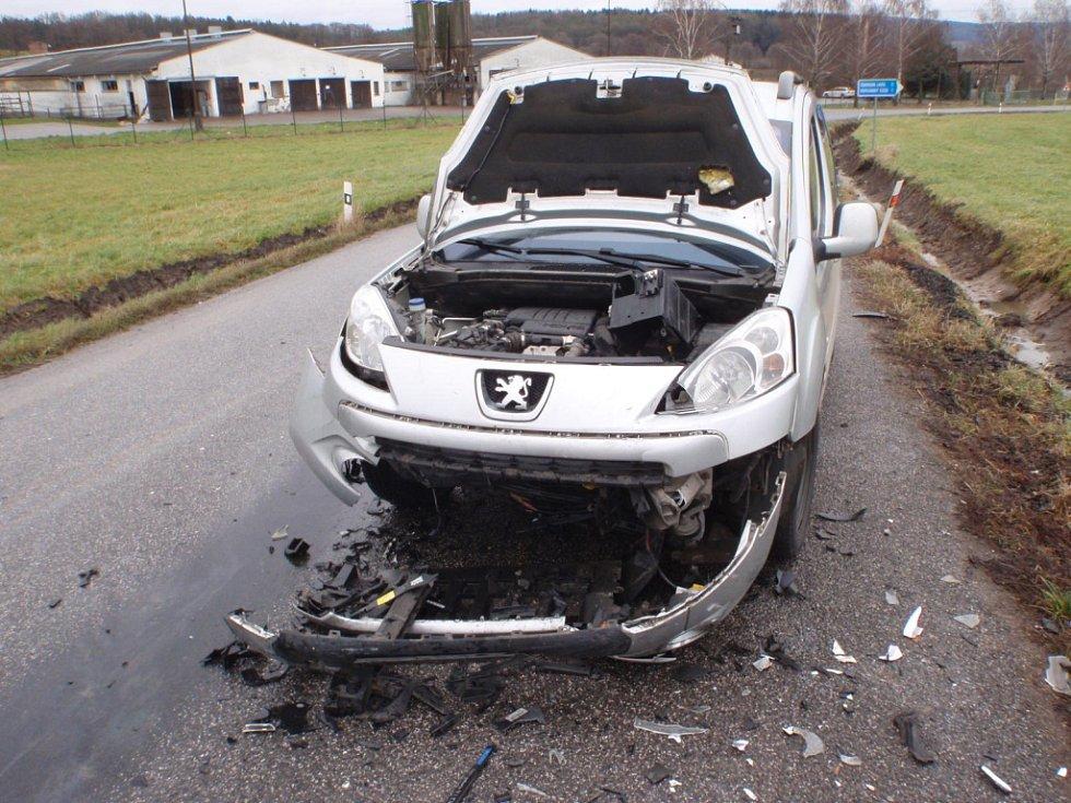 Dopravní nehoda u Chotče.