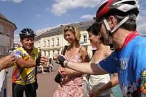 Cyklista Ivan Pírko po návratu z Madridu.