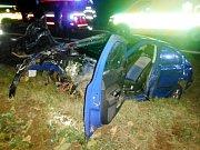 Havárie osobního automobilu u Konecchlumí.