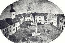 Historická pohlednice Nové Paky.