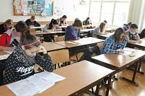 Přijímací testy na zkoušku.