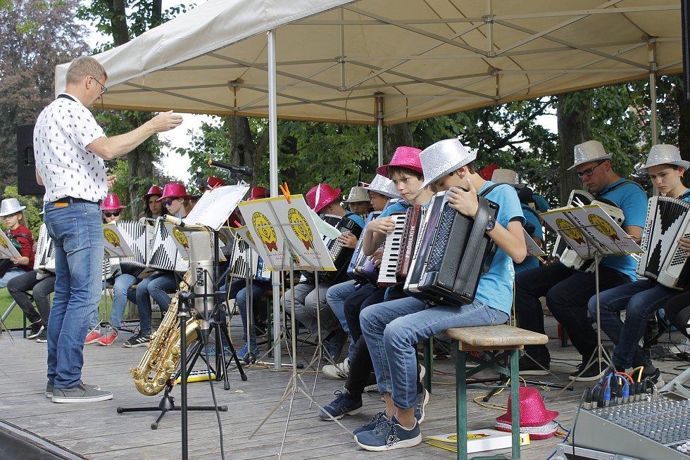 Koncert mladých německých hudebníků se uskutečnil v rámci jejich českého turné.