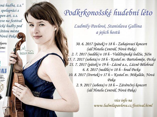 Podkrkonošské hudební léto aneb houslistka Ludmila Pavlová