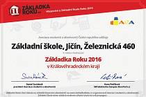 Ocenění jičínské 4. ZŠ.