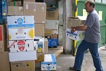 Lidé přispívali do charitativní sbírky v Hořicích.