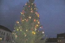 Rozsvěcení vánočního stromu v Jičíně.