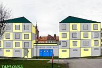 Tamlovka - ne projekt, ale malůvka, jak ji nazval podnikatel Vladimír Dubský, který zde plánuje v těchto místech stavět.