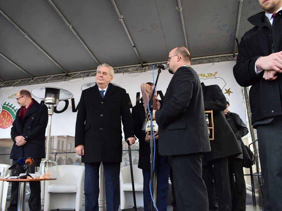 Prezident Miloš Zeman v Nové Pace.