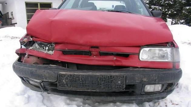 Z místa nehody.