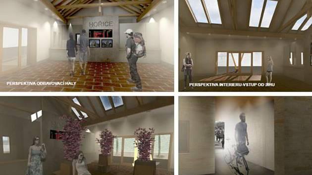 Vizualizace nové odbavovací haly hořického autobusového nádraží.