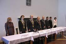 Představení fakulty před zahájení studia v Jičíně v Porotním sále Valdštejnského zámku.