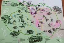 Mapa Geoparku Český ráj.