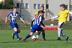 Z duelu krajského přeboru Jičín - Chlumec nad Cidlinou (4:0).