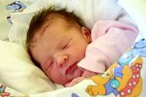 NATÁLIE MARŠÍKOVÁ se na svoje rodiče Adélu Brádlovou a Lukáše Maršíka poprvé usmála 12. září, kdy se narodila s porodní váhou 2,75 kg a mírou 47 cm. Rodina bydlí v Dobré Vodě u Hořic.