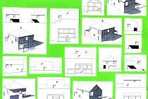 Plánovaný typ zástavby domků v lokalitě po kasárnách.