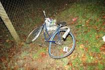 U Kbelnice byl sražen neosvětlený cyklista.