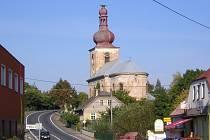 Dominanta Úlibic, kostel Zvěstování Panny Marie.