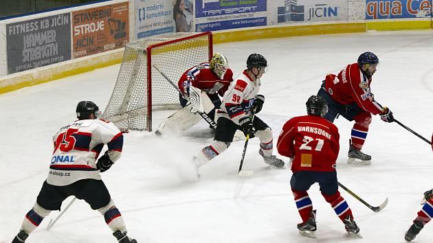 Hokejisté Jičína doma přestříleli Varnsdorf.