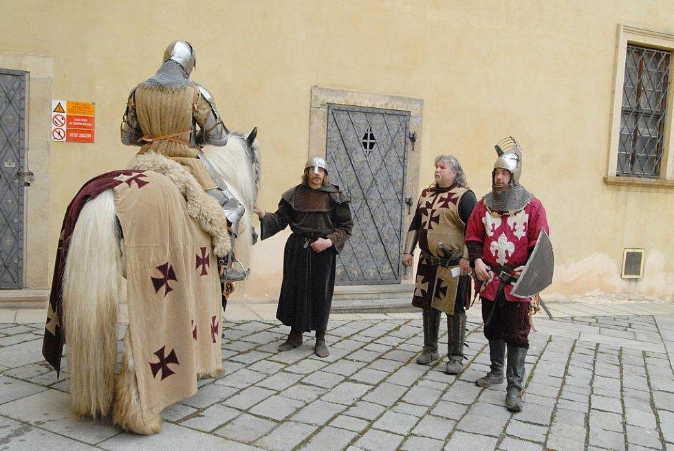 Představila se také šermířská skupina Ordo Kromen.