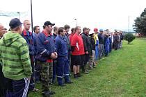 Ze soutěže hasičů v Kacákově Lhotě.