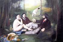 Pavel Matuška: ... a snídaně je v trávě! (a la E. Manet) – 2000.