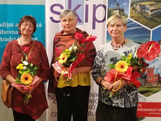 Z jičínského regionu byly oceněny tři knihovnice - Stanislava Benešová, Dana Malá a Věra Černá.