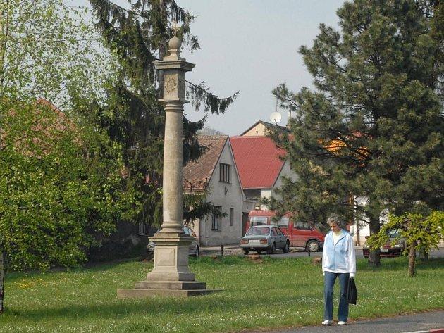 Hořický Toskánský sloup na Hankově náměstí.