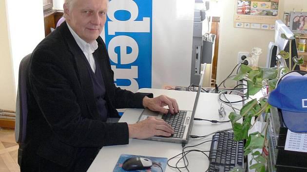 Václav Ludvík v naší redakci.