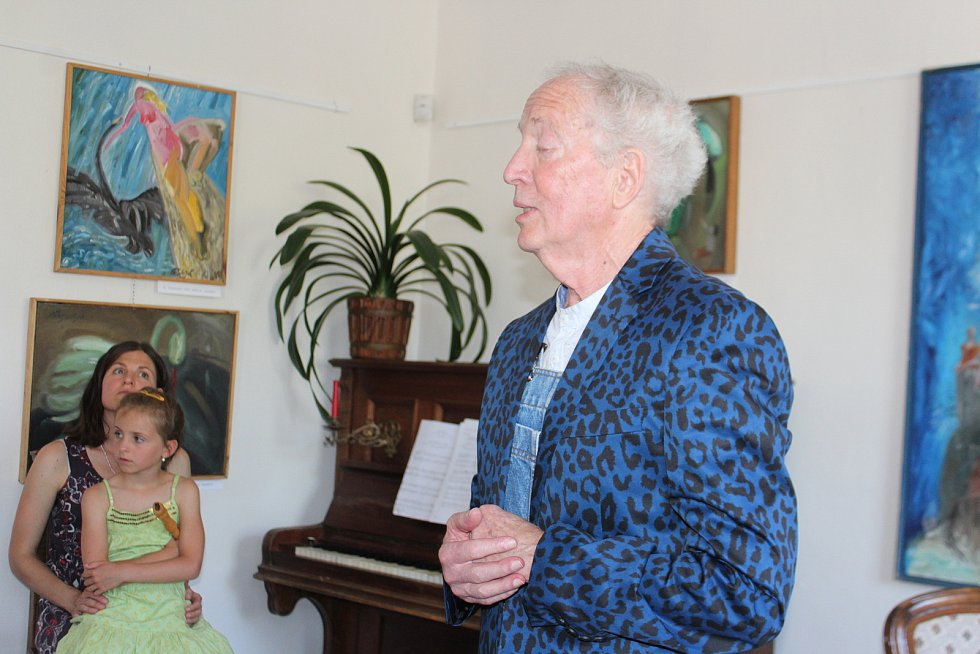 Michail Ščigol vystavuje od soboty své obrazy v železnickém muzeu, je to krátké ohlédnutí za třicetiletou tvorbou.