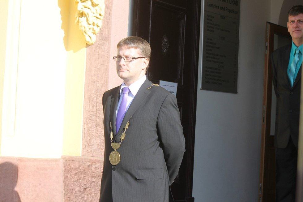 Z návštěvy prezidenta Miloše Zemana v Lomnici nad Popelkou.