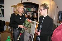 Ze setkání Jakuba Kazdy s Dagmar Havlovou.