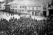 Oslavy vzniku republiky v Nové Pace.