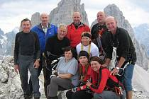 NA VRCHOLU!  Začátečníci na Monte Paterno.