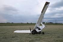U Popovic havarovalo letadlo.