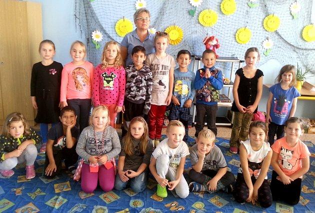 Žáci 1.třídy ze ZŠ a MŠ Kopidlno