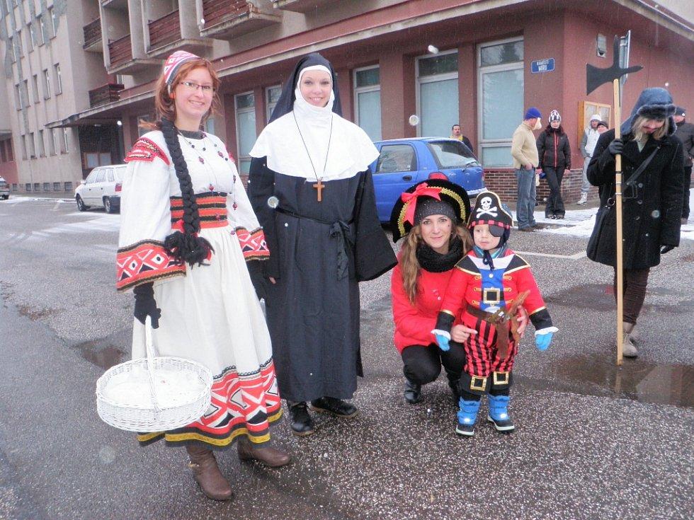 Masopustní veselí ve Valdicích.