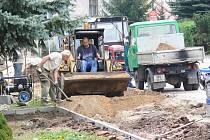 Budování nových bělohradských chodníků