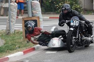 Tradiční motocyklový závod v Jičíně.