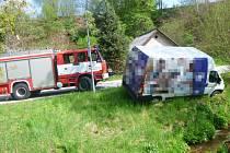 Dopravní nehoda ve Vidochově.