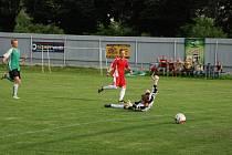 MILOSLAV HAVELKA v kopidlenském dresu  při derby s Libání i v Kobylicích skóroval vždy dvakrát.