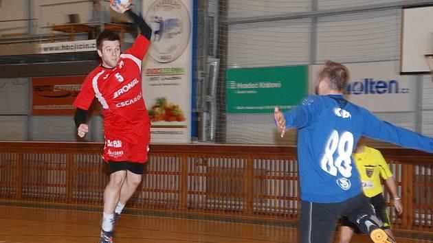 První utkání série play-out: HBC Ronal Jičín – Sokol HC Přerov.