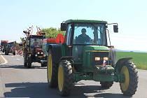Protestní jízdy zemědělců na Jičínsku.