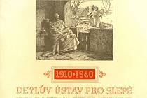 Deylův ústav pro slepé. Poděkování Václavu Vojtíškovi za poskytnutý peněžní dar. 1945.