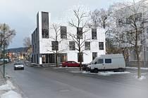 Studie nové budovy bělohradského městského úřadu.