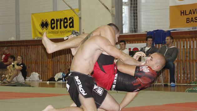 BYL TO BOJ. Michal Popelák (vlevo) musel  zvládnout čtyři náročné zápasy, navíc ho limitovalo zranění.