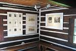 Z vernisáže výstavy Antonína Majera na Šolcově statku.