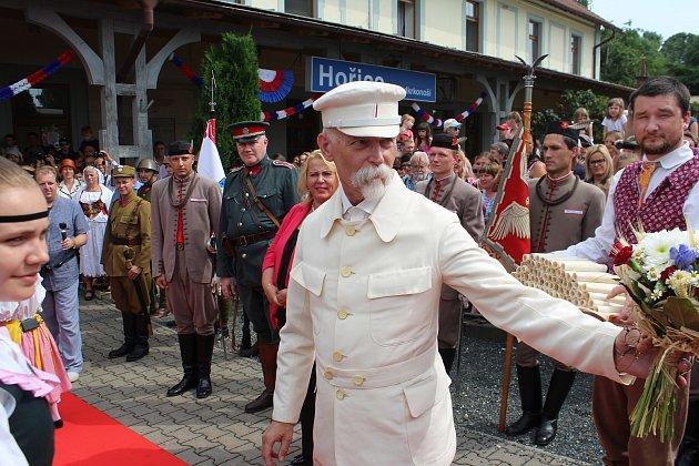Přivítání Masaryka v Hořicích.
