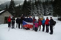 Z výstupu na Sněžku se skupinou Ivana Pírka..