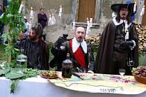 Z návštěvy vévody Albrechta z Valdštejna v lodžii v Sedličkách.