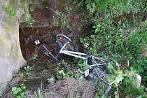 Kolo po nehodě.
